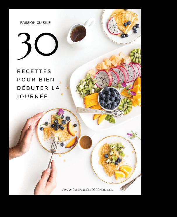 Couverture e-book 30 recettes pour bien débuter la journée