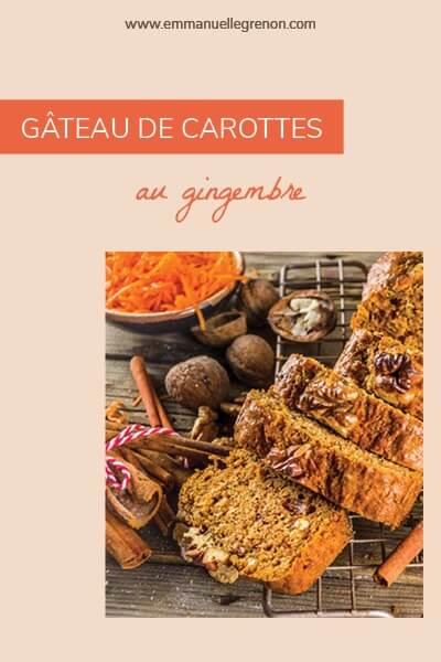 Gâteau de carottes au gingembre