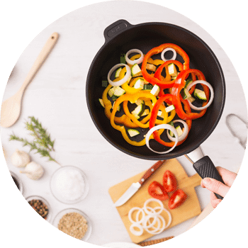 Plats de légumes