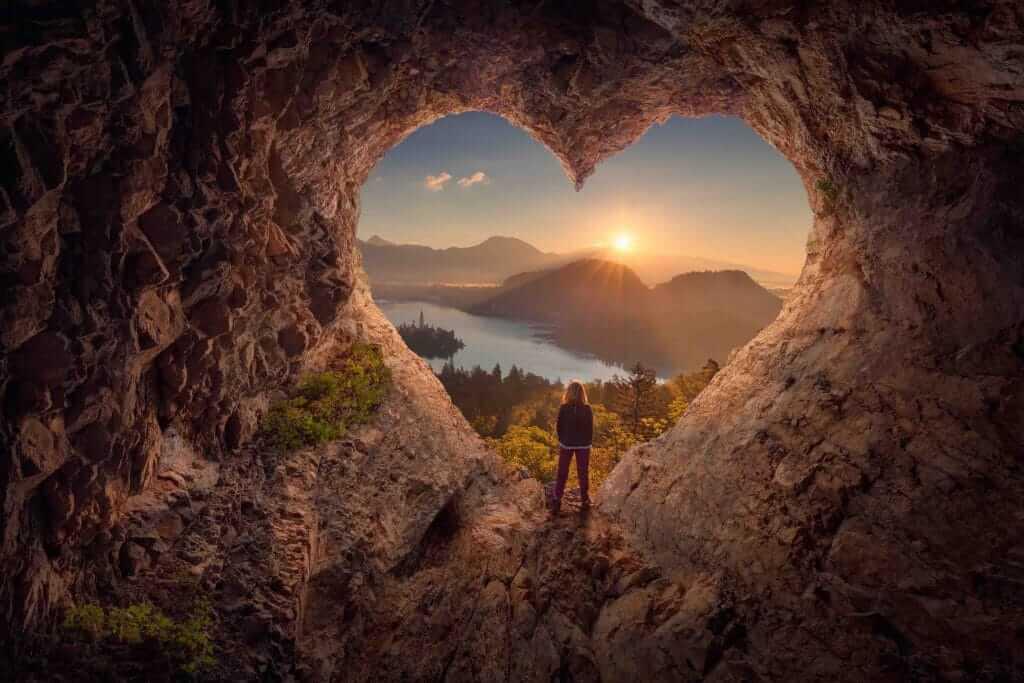 Grotte en forme de coeur